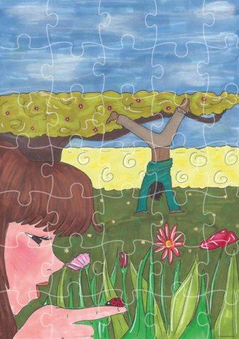 Bricolage - Carte postale puzzle - Activité enfants
