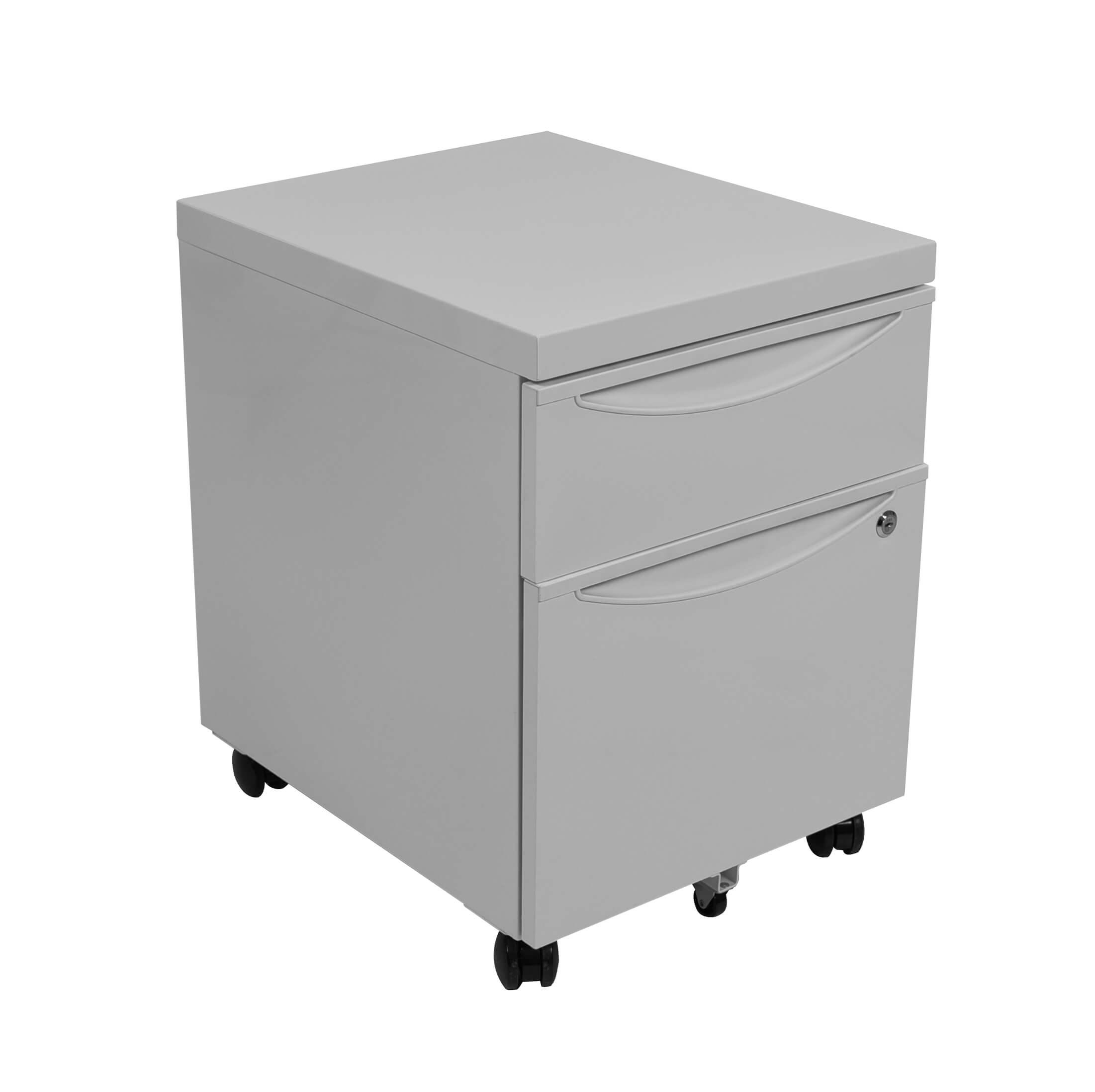 Luxor Mobile Pedestal File Cabinet W Locking Drawer Model Number Kdpedestal Gy