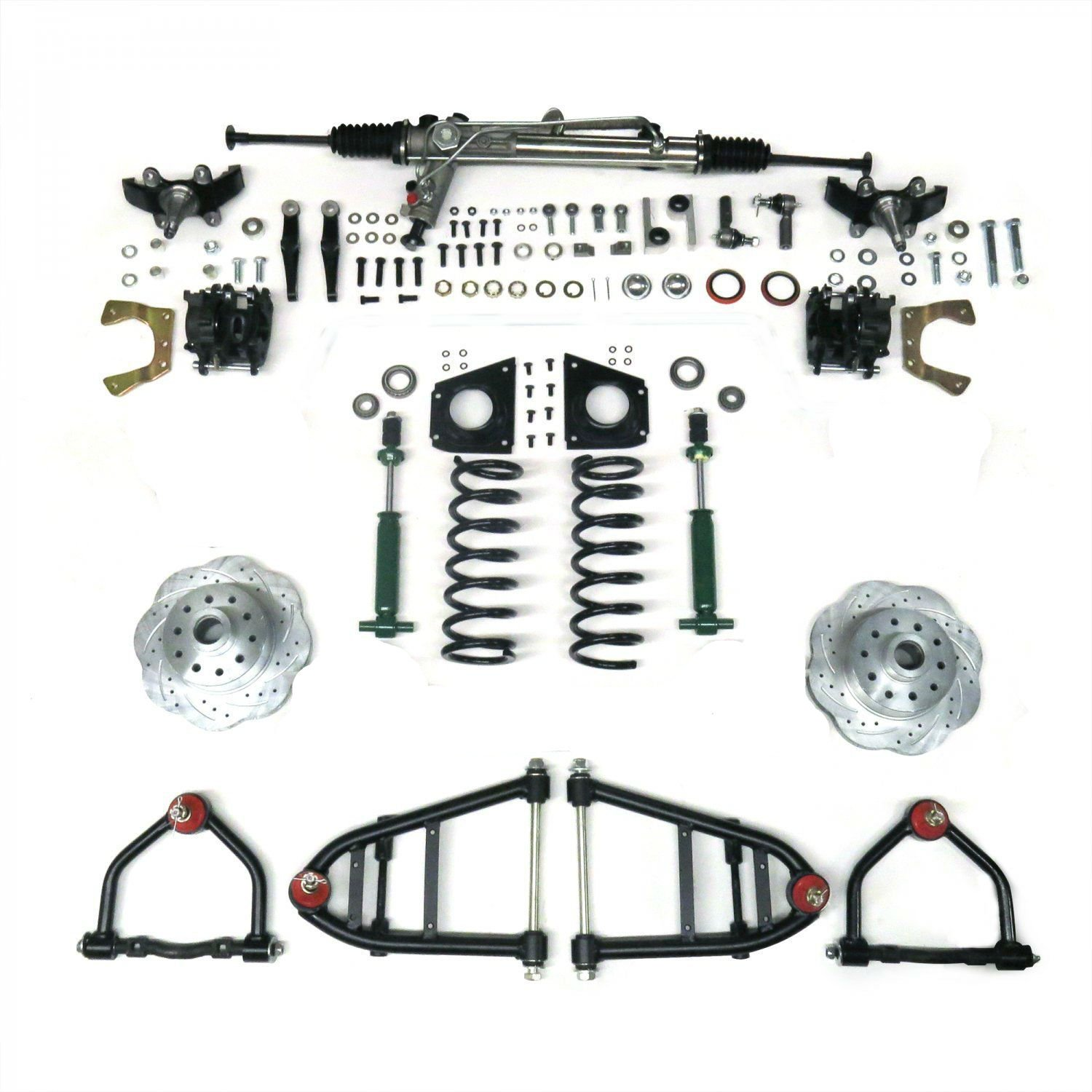 Mustang Ii Ifs Kit With Power Steering For 55 57 Chevy Bel
