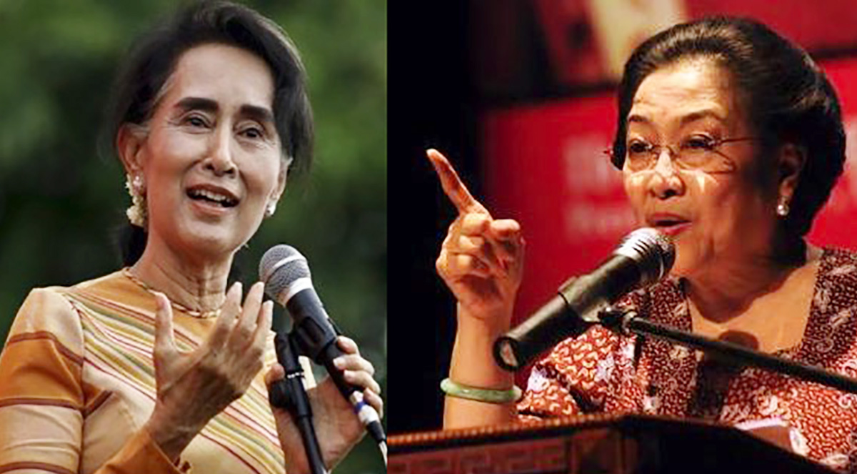 Image result for aung san suu kyi and megawati