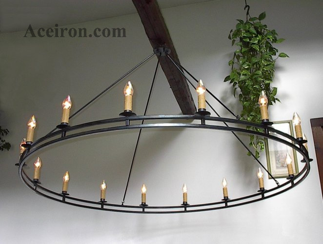 I Have Personally Designed Hand Forged And Signed Each Custom Wrought Iron Chandelier At My Home Blacksmith In Thorn Maine