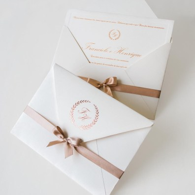 Modelos de Convites de Casamento Simples