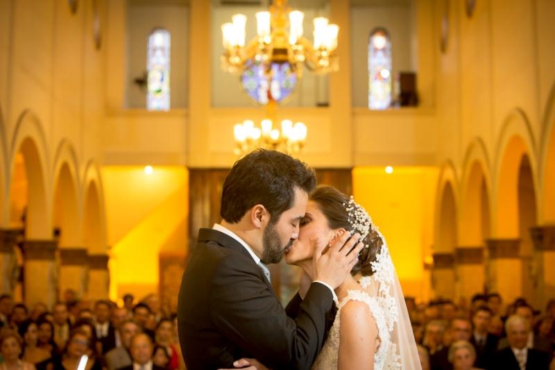 O beijo dos noivos!