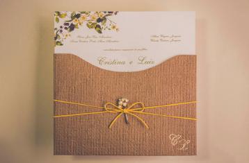 Convites De Casamento Em Kraft Inspire Se Nessa Tendência Aceito Sim