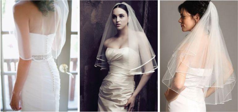Véu da noiva cotovelo