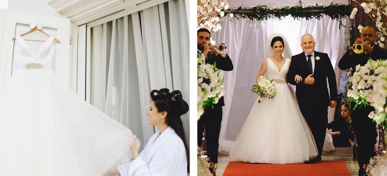 Vestido de noiva bem rodado