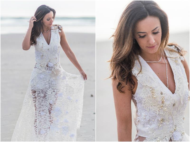 Vestido de noiva para Casamento na praia Paloma Tocci