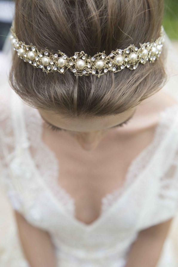 Tiara Dourada para Noiva