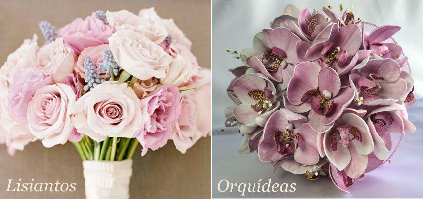 buquê de Lisianto e Orquídeas