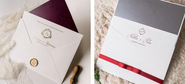convite de Casamento marsala Tradicional