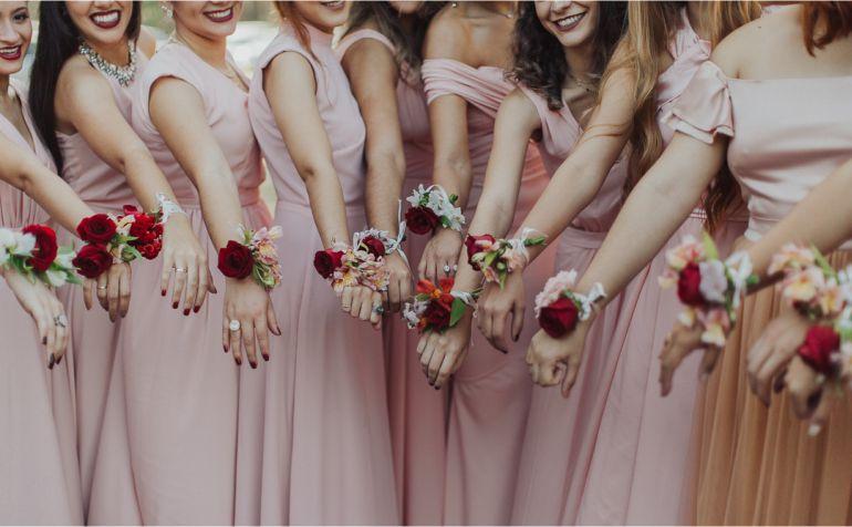 Madrinhas de Casamento com Corsage - Foto Frankie e Marilia