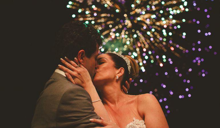 Fogos de artifício no casamento