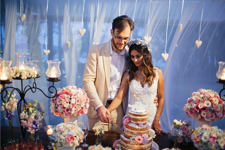 Naked Cake no Casamento