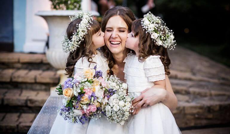 Noiva e daminhas