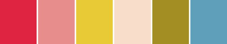 Paleta de cores casamento Campestre