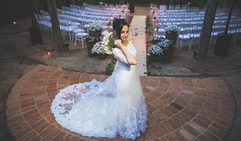 Vestido de noiva campestre