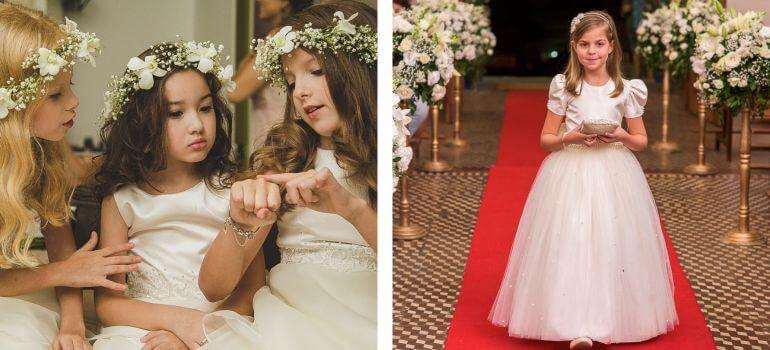 Acessórios para daminhas de casamento