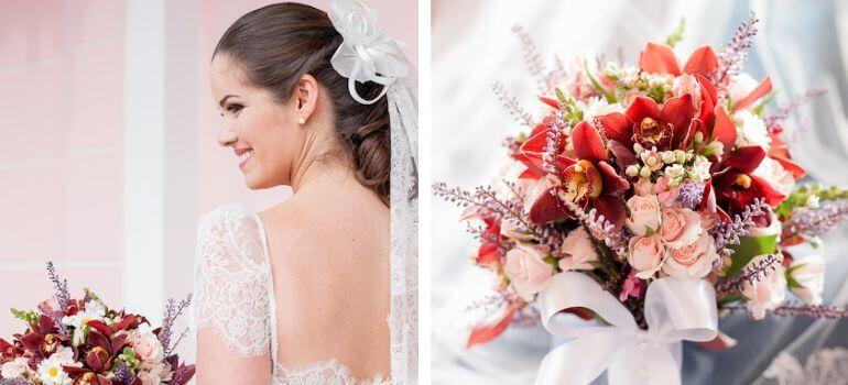 Buquê de noiva para casamento no campo