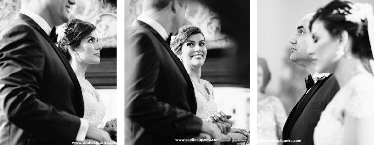 Cerimônia de casamento romântico