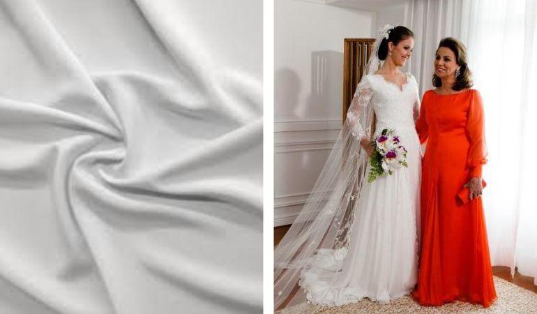 Tecidos para vestido de noiva Crepe