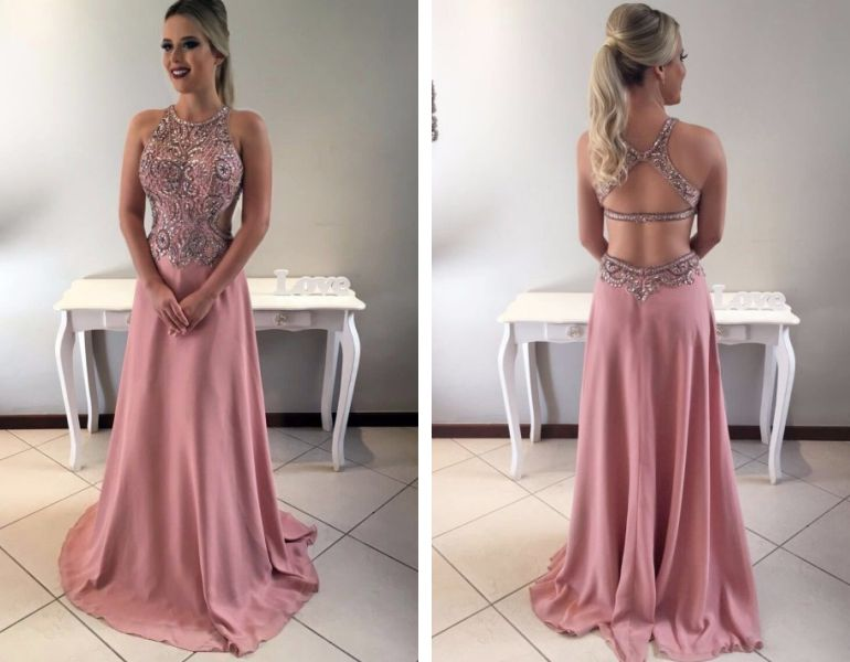Vestido de festa bordado - Maison Bais