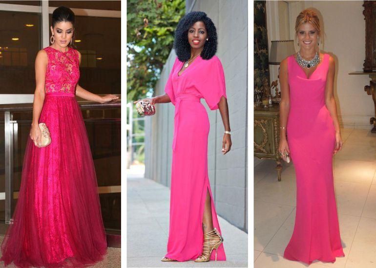 Vestido madrinha de casamento rosa