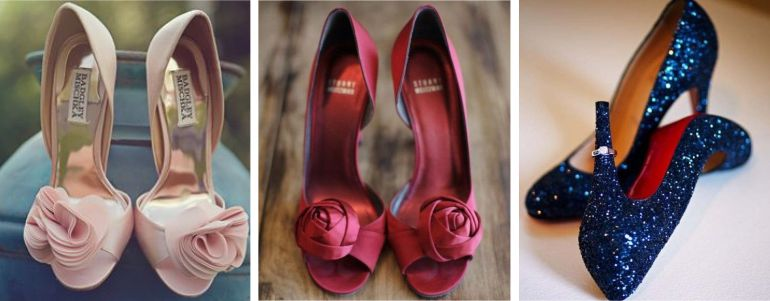 Sapatos para Buquê de noiva marsala