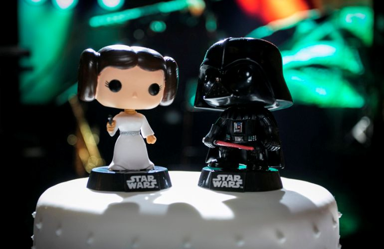 Topo do Bolo - Princesa Leia e Darth Vader