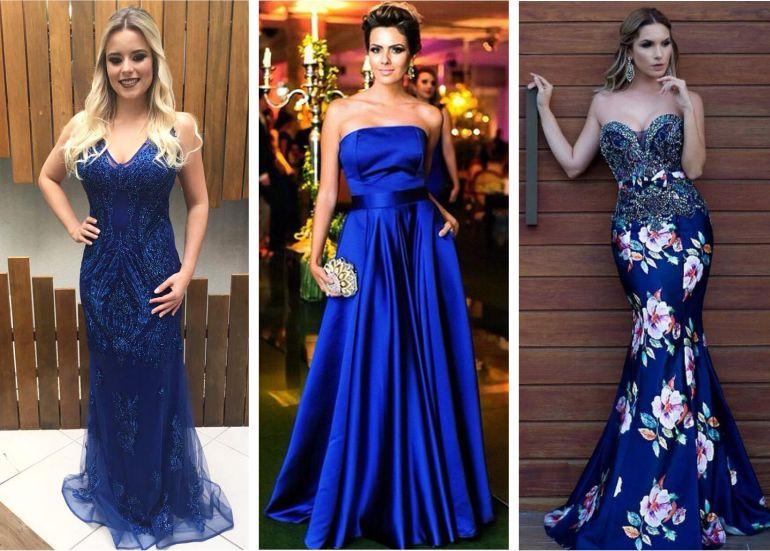 Vestidos de festa de casamento madrinha azul
