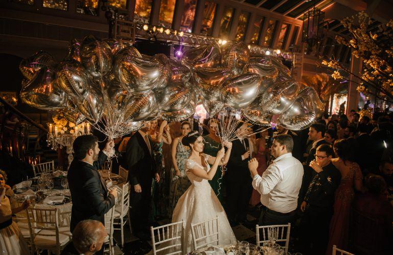 Balões festa de casamento