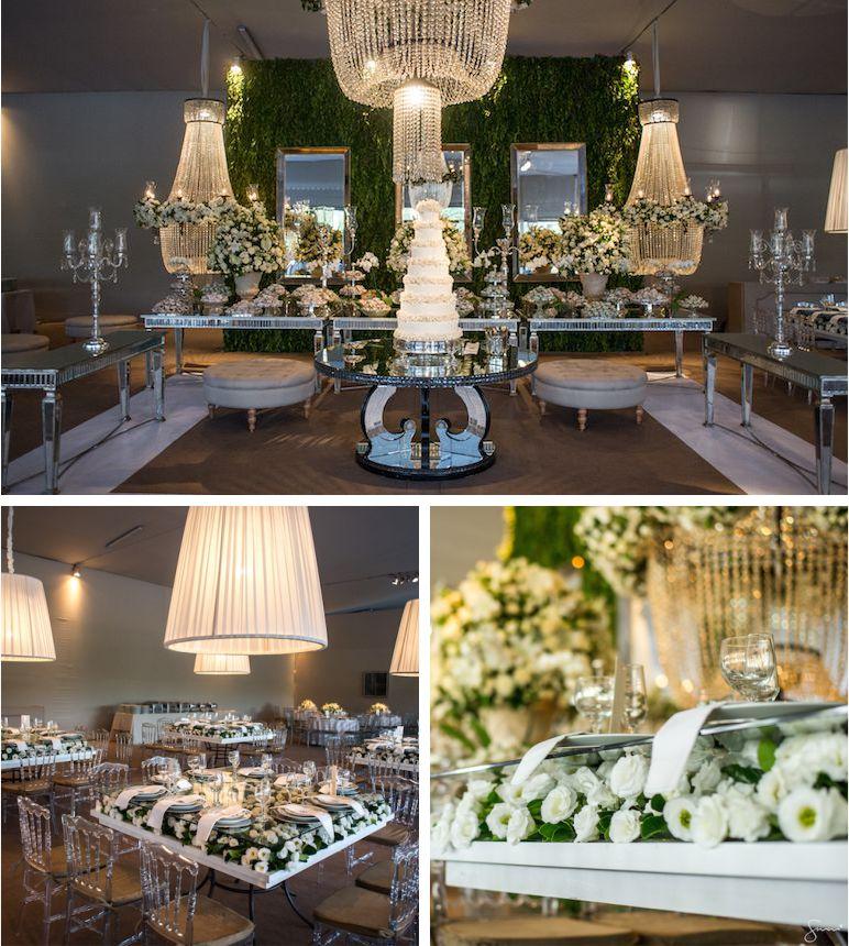decoração de casamento criativa branco
