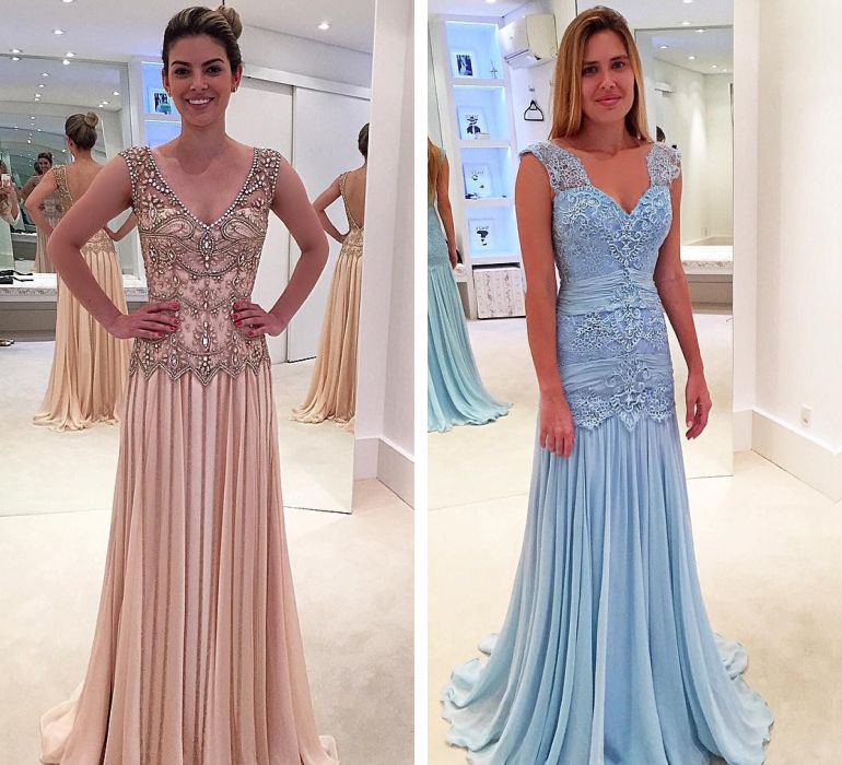 Modelos de vestido para casamento de noite