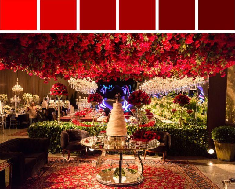 Tons de Vermelho para Decoração de Casamento