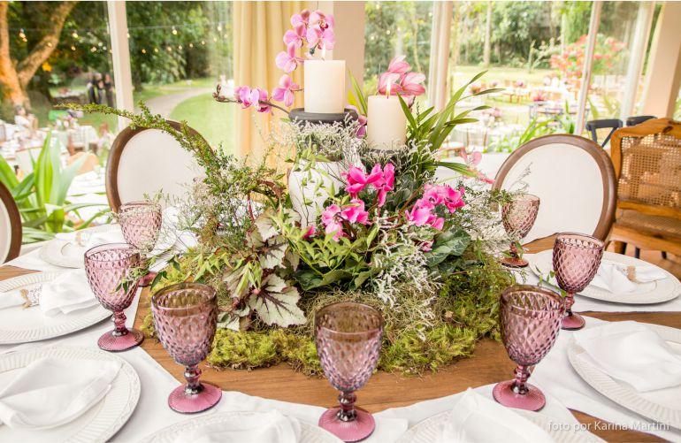Decoração de Casamento rosa e verde