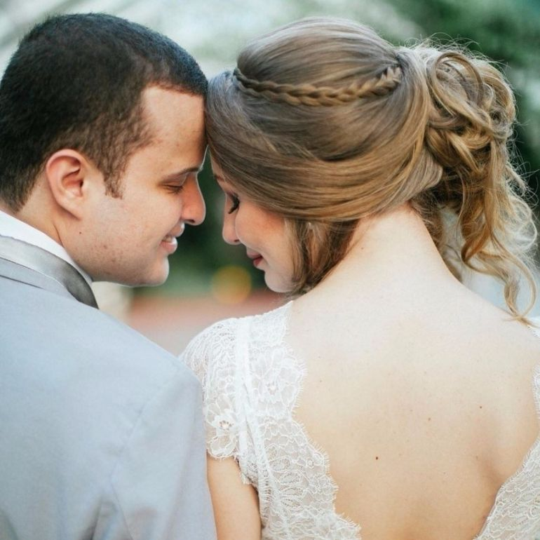 Penteados para noivas trança