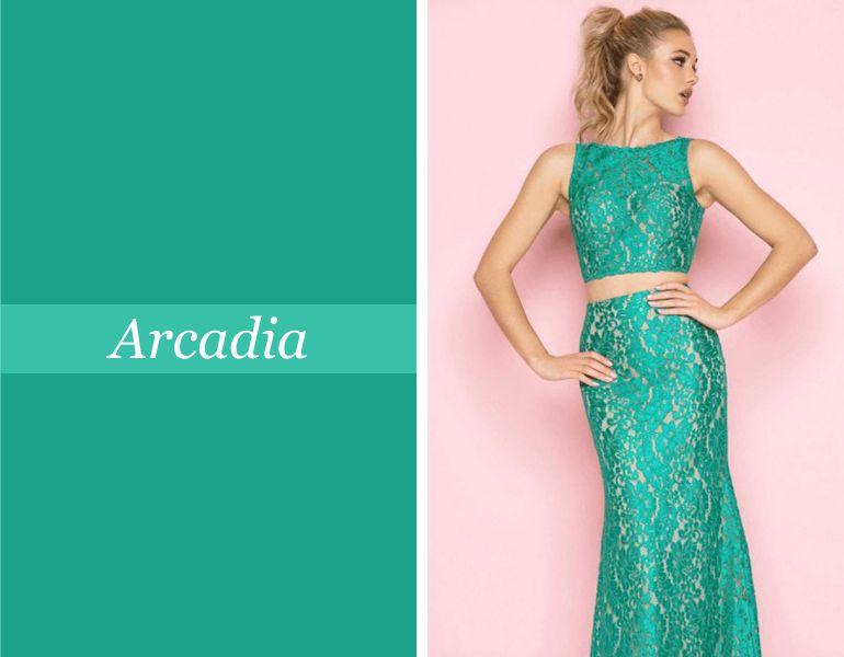 Tendências para vestidos de festa: Arcadia