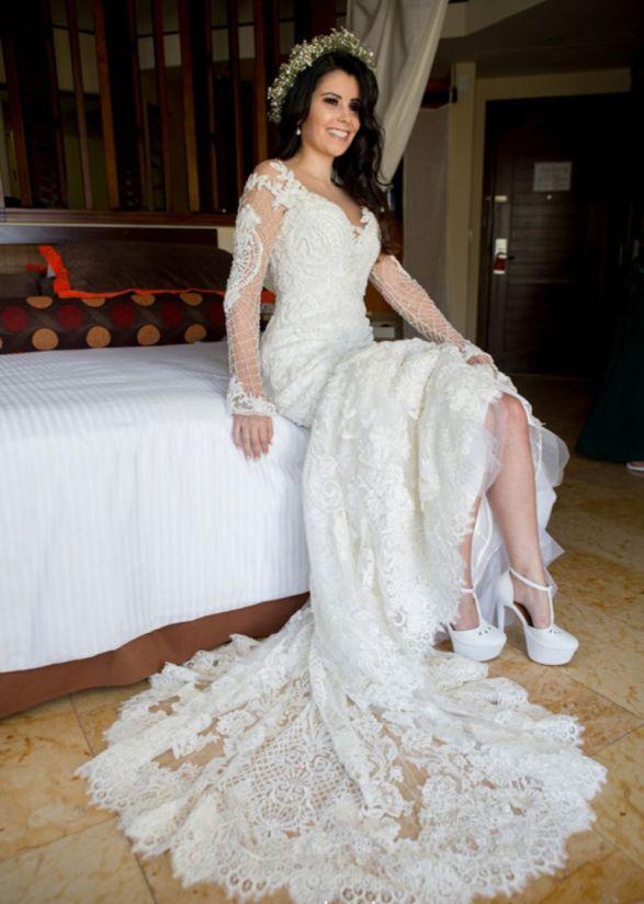 Vestido de noiva para casamento em cancun