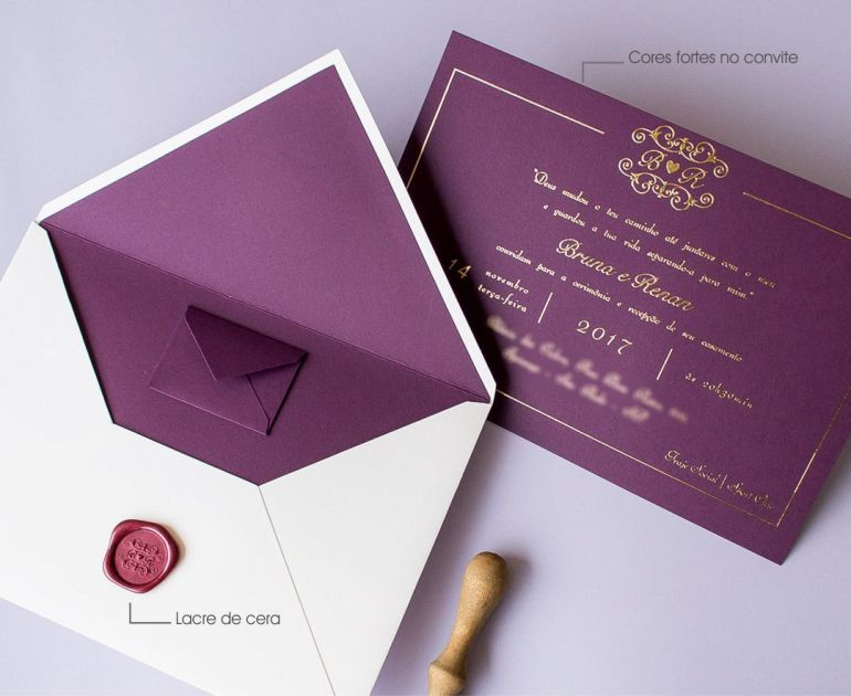 Como fazer convites de casamento moderno