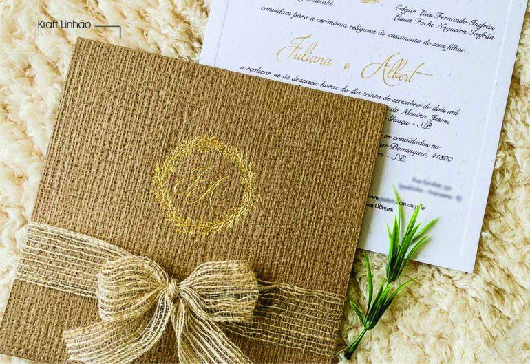 Como fazer convites de casamento rústico