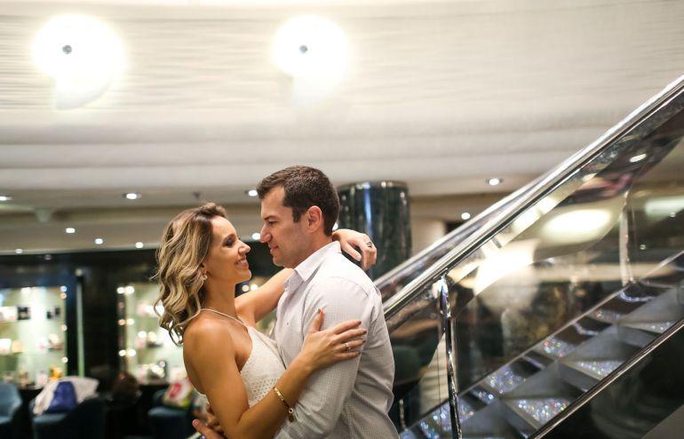 Ensaio pré wedding no navio