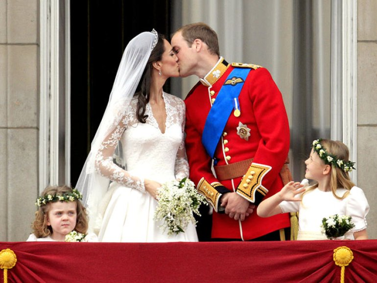 Beijo de Casamento William e Kate