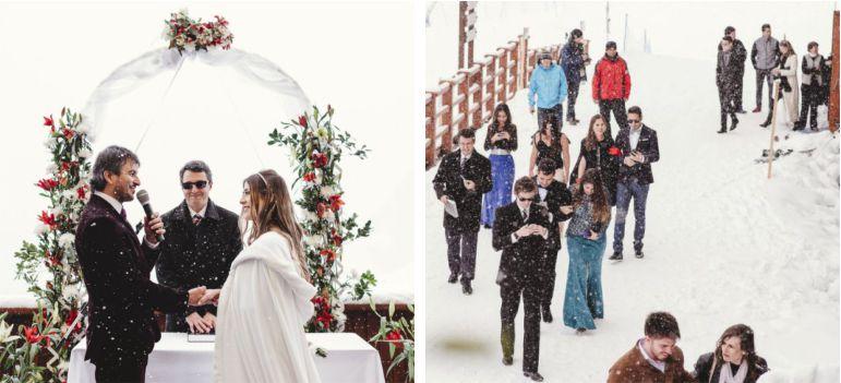 Casamento na estação de Ski no Chile