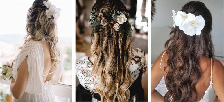 Penteados de noiva com flores