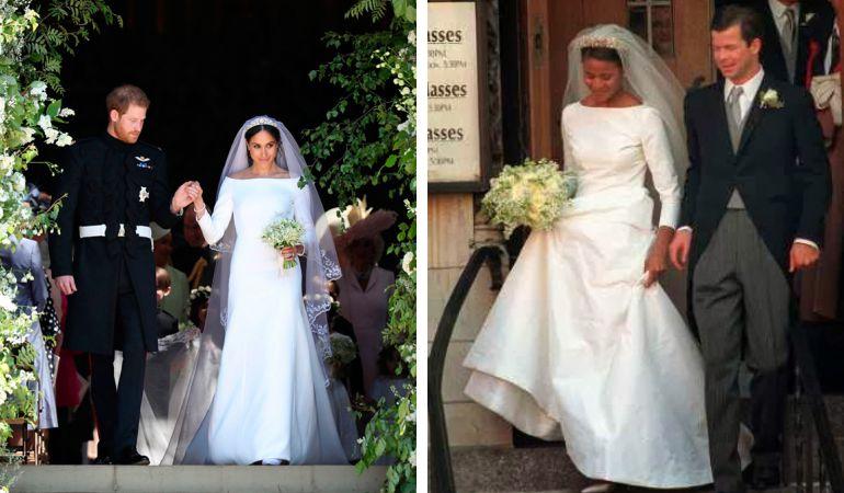 Vestido de noiva meghan Markle e ângela
