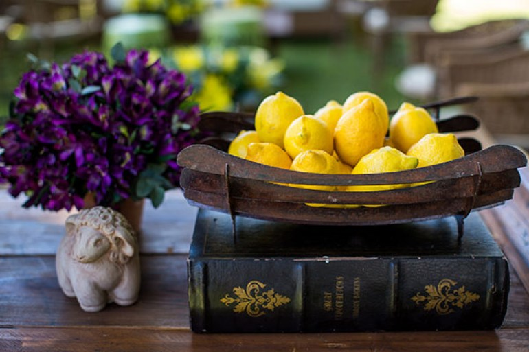 Decoração de casamento com limão siciliano