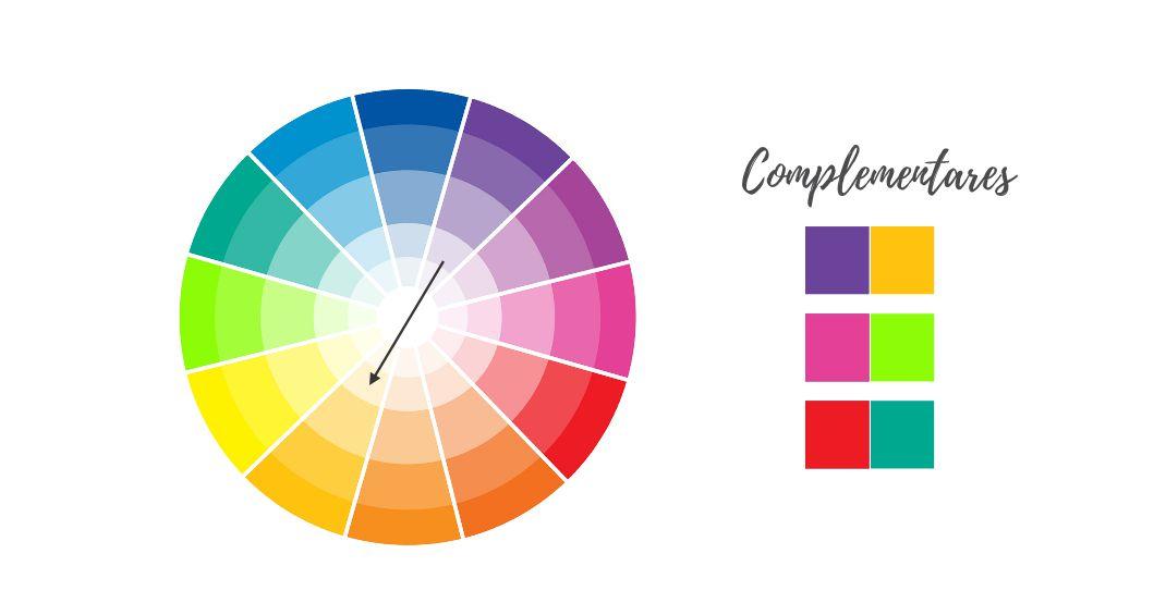Como combinar as cores da decoração do casamento com cores complementares