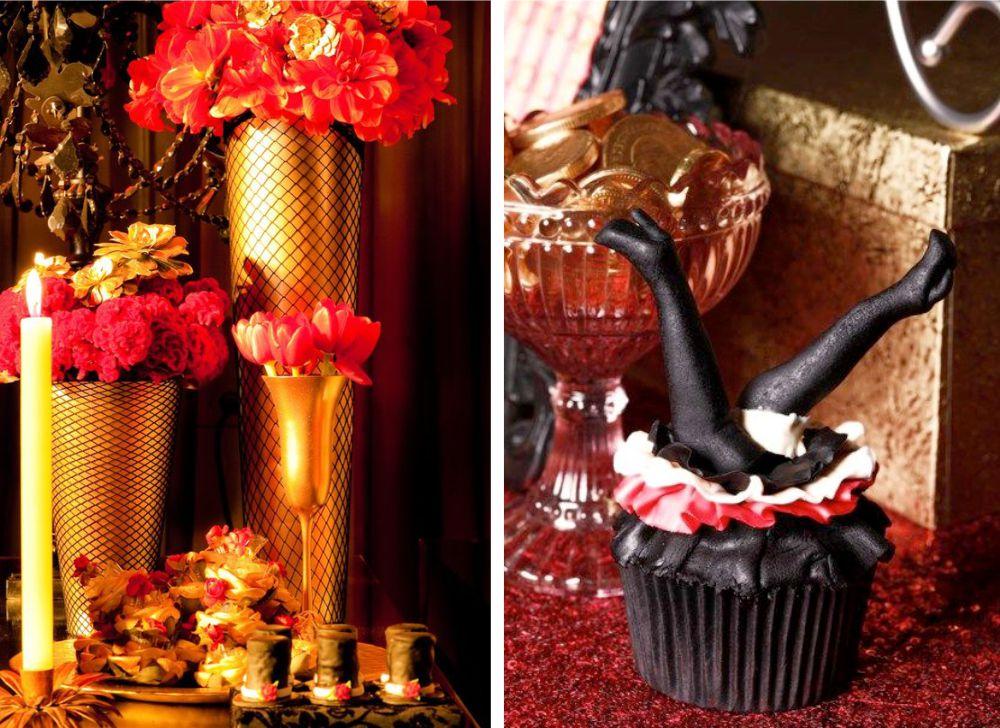 Decoração para festa Moulin Rouge