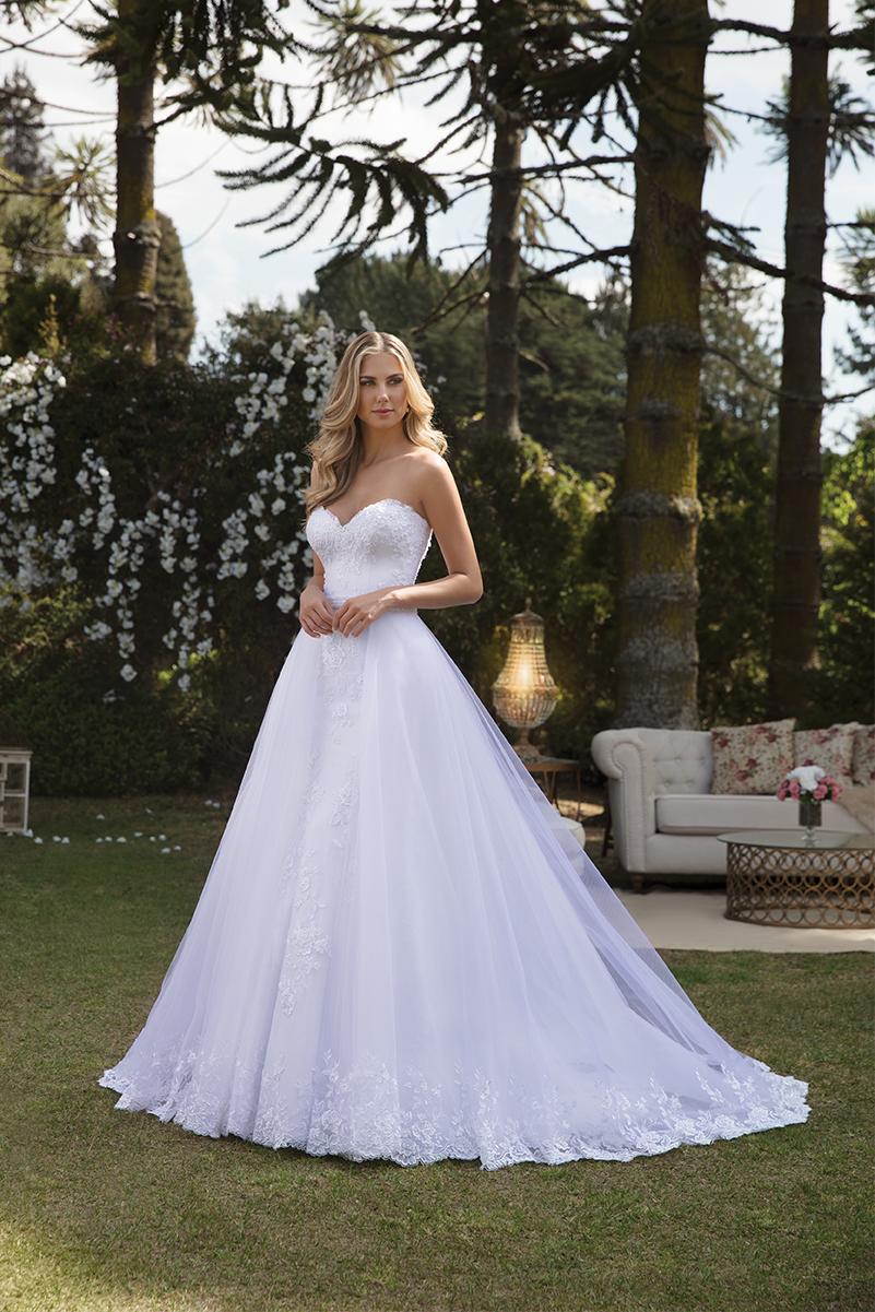 Vestido de noiva com saia removível