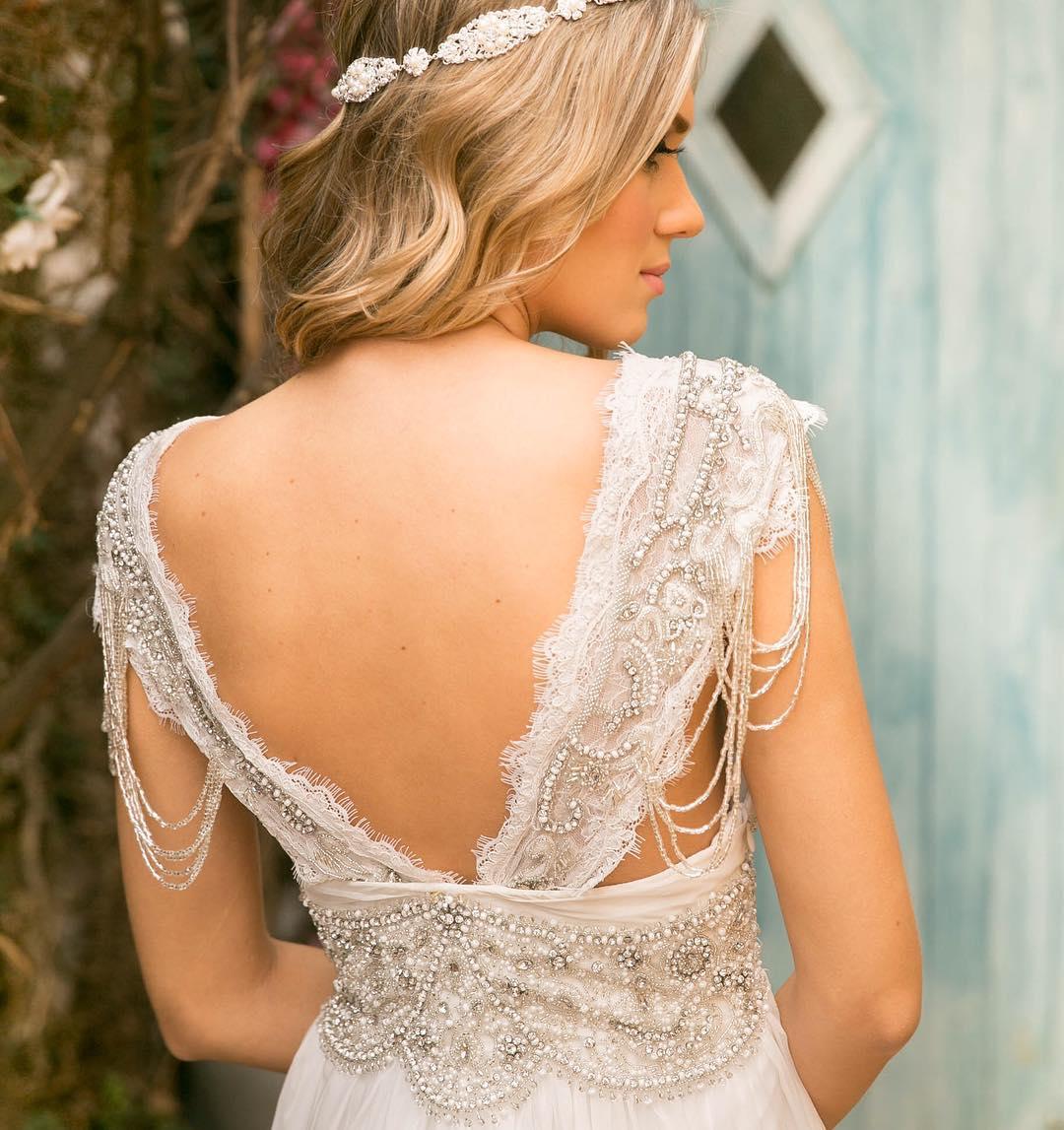 Vestido de noiva com tule bordado | Noiva nas Nuvens