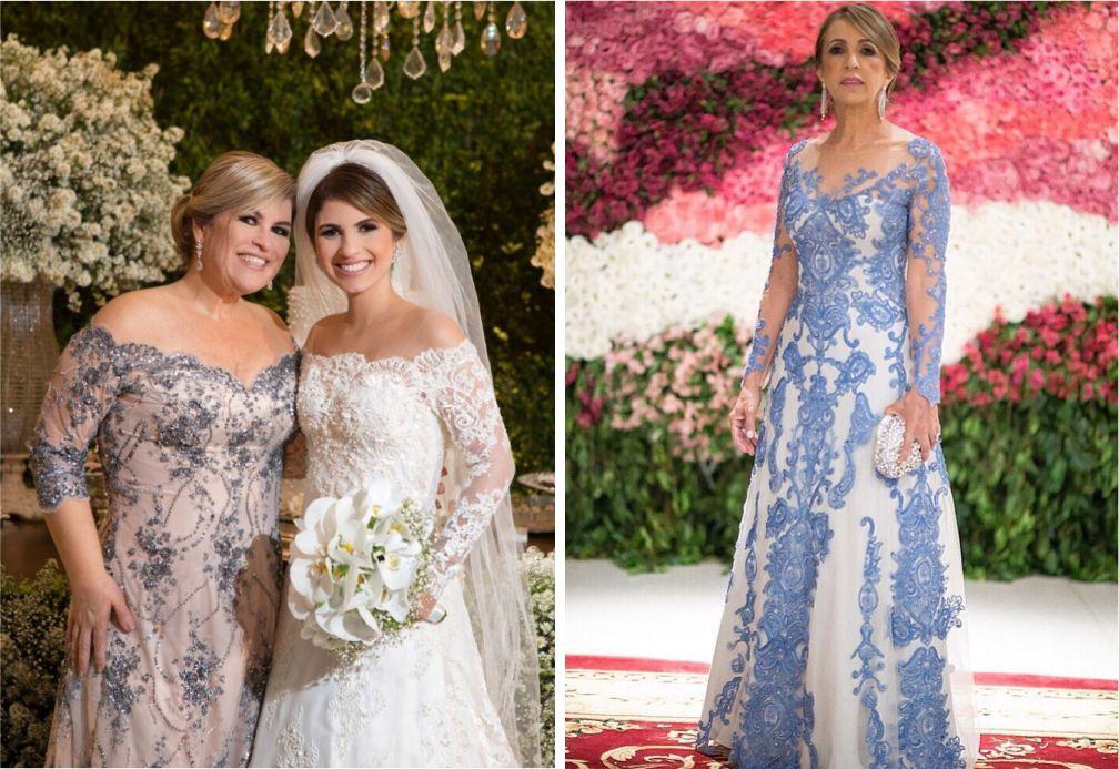 Vestidos para mães dos noivos com renda   Vestido Carol Hungria e Paulo Dolce